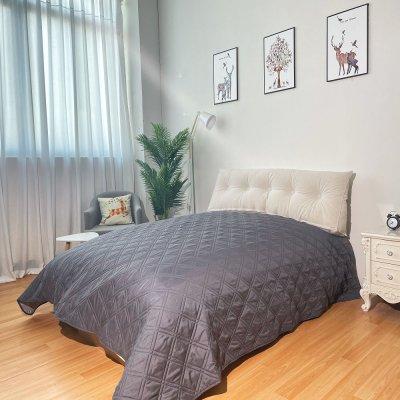 Κουβερλί Μονό Elegance K6 Dark Gray/Light Gray Adam Home