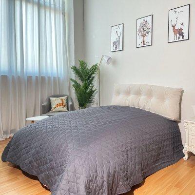 Κουβερλί Μονό Elegance K7 Dark Gray/Light Gray Adam Home
