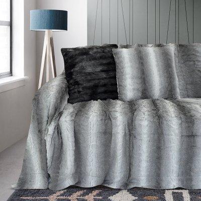 Ριχτάρι Τριθέσιου (180x300) Parn Gray Lino Home