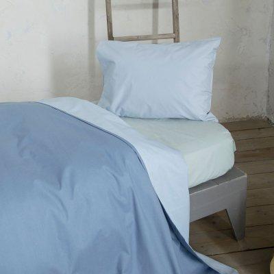 Παπλωματοθήκη Μονή Colors Sky Blue/Shadow Blue Nima Home
