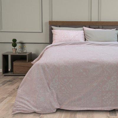 Σετ Σεντόνια Υπέρδιπλα Deluxe Steam Pink Lino Home