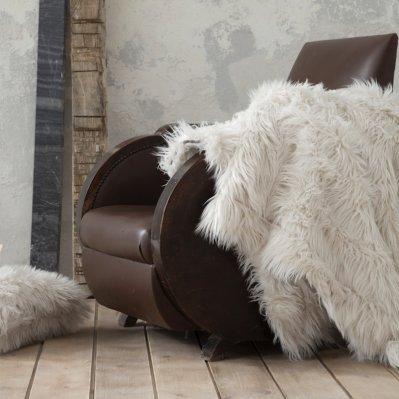 Κουβέρτα Καναπέ Fluffy Taupe Nima Home