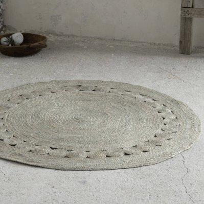 Στρογγυλό Χαλί (R150) Makrame Light Gray Deco Nima Home