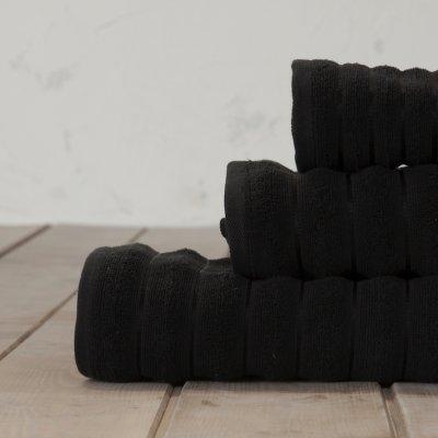Πετσέτα Προσώπου Tousle Black Nima Home