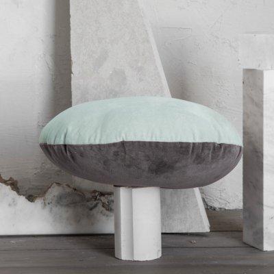 Διακοσμητικό Μαξιλάρι Velvety Gray/Mint Nima Home