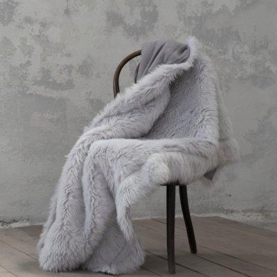 Κουβέρτα Καναπέ Velvet Gray Nima Home