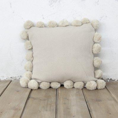 Διακοσμητικό Μαξιλάρι Pom Pom Snug Beige Nima Home