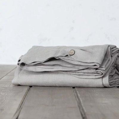 Παπλωματοθήκη Γίγας Linen Light Gray Nima Home