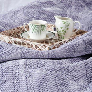 Κουβέρτα Βελουτέ Υπέρδιπλη Smooth Lilac Palamaiki