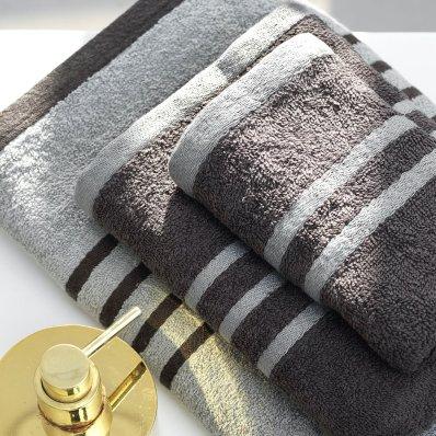 Σετ Πετσέτες Μπάνιου (3τμχ) Contrast Gray Palamaiki