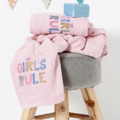 Σετ Πετσέτες Παιδικές (2τμχ) Girls Rule Palamaiki