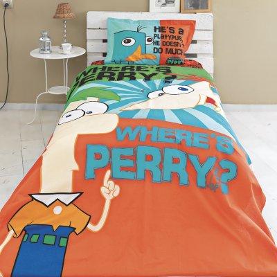 Σετ Παπλωματοθήκη Μονή Phineas & Ferb Palamaiki
