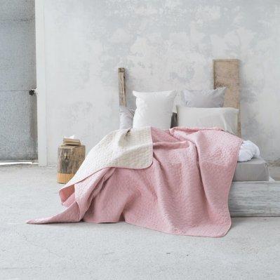 Κουβερλί Γίγας Cerchio Rouge Pink / Linen Nima Home