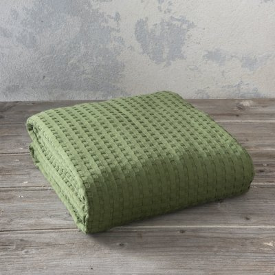 Κουβέρτα Πικέ Γίγας Habit Olive Nima Home