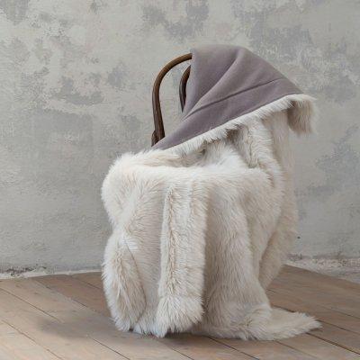 Κουβέρτα Καναπέ Velvet Ivory Nima Home