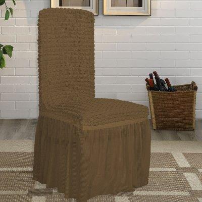 Κάλυμμα Καρέκλας Lycra Καφέ Lino Home
