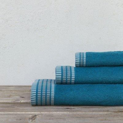 Σετ Πετσέτες Μπάνιου (3τμχ) Siren Blue Nima Home