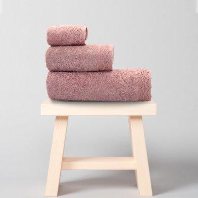 Σετ Πετσέτες Μπάνιου (3τμχ) Bien Dusty Pink Lino Home